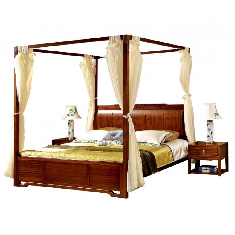 居兴闻檀实木家具大床床头柜卧房套衣柜衣橱  新中式实木卧房套2