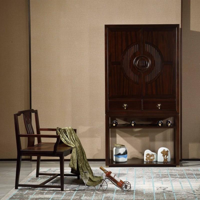 居兴闻檀实木家具罗酒柜餐边柜边柜  新中式实木家具边柜酒柜餐边柜