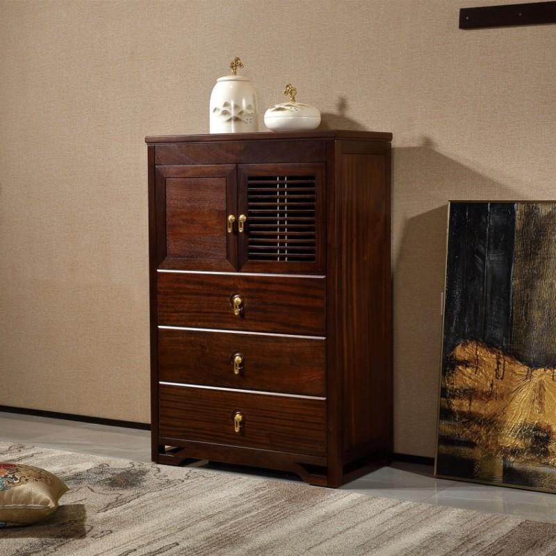 居兴闻檀实木家具门厅柜玄关柜边柜  新中式实木家具玄关柜门厅柜边柜1