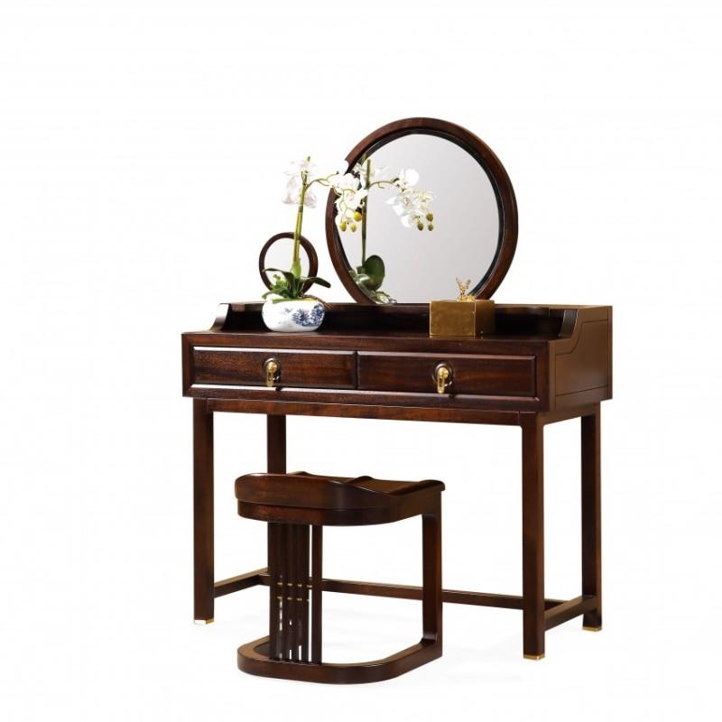 居兴闻檀实木家具梳妆台妆凳  新中式实木家具梳妆台妆镜妆凳1