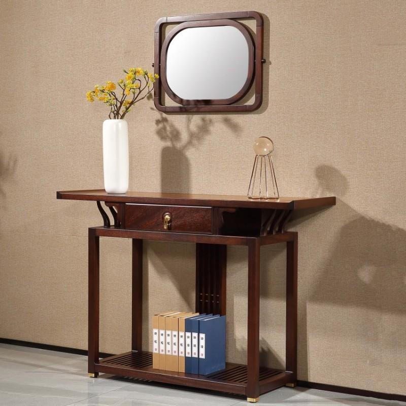 居兴闻檀实木家具梳妆台妆凳  新中式实木家具梳妆台妆镜妆凳2