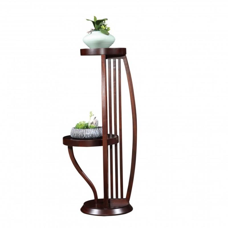 居兴闻檀实木家具客厅花架组合花架  新中式实木家具花架组合花架2