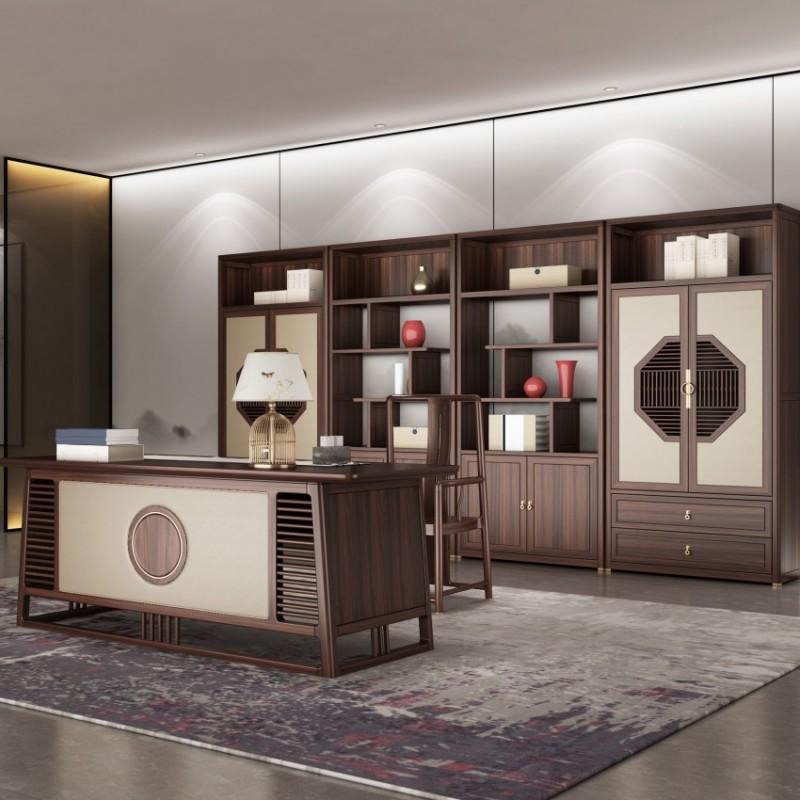 大立华锦尚新中式家具书房家具书桌书椅书柜书架展示柜书房套罗汉床1