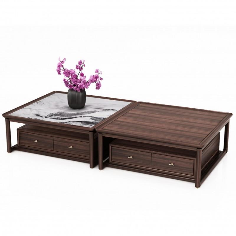 大立华锦尚客厅茶几方几 新中式实木家具大方几茶几
