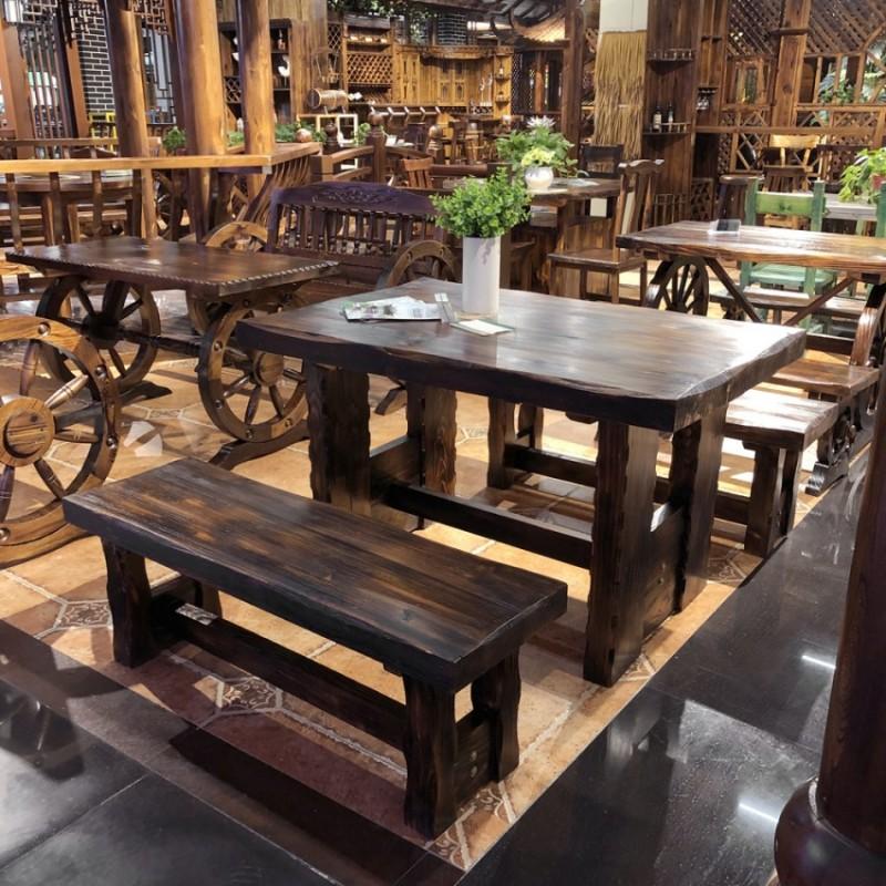 碳烧木户外休闲桌椅庭院加厚餐桌椅CZY-01