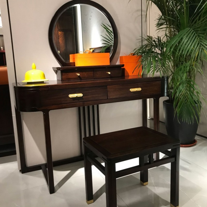 大立华锦尚新中式家具梳妆台妆镜妆凳