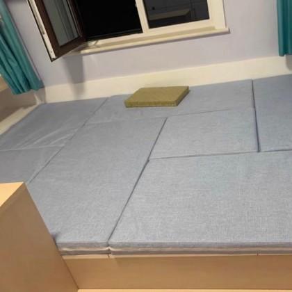 可拆洗布艺床垫