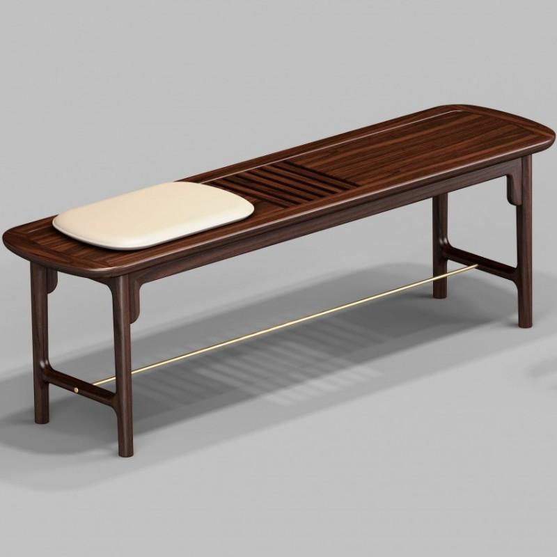 御舍新中式实木家具餐凳-1801