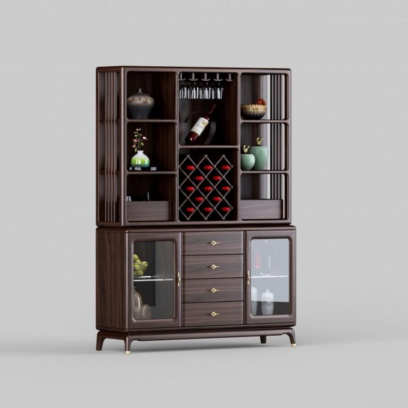 御舍新中式实木家具餐边柜-1802