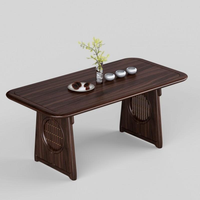 御舍新中式实木家具餐桌-1802