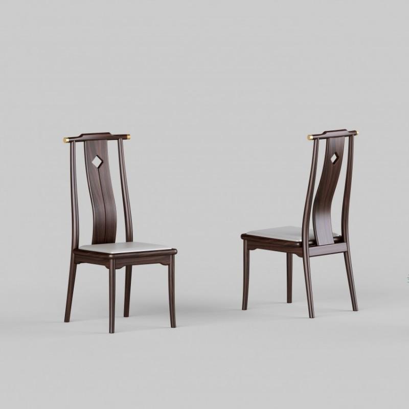 御舍新中式实木家具餐椅-1803
