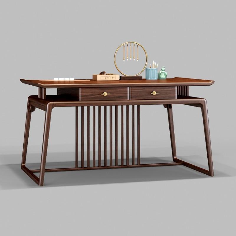 御舍新中式实木家具书桌-1802
