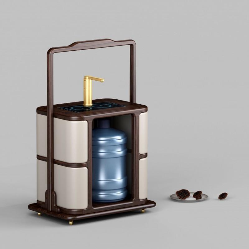 御舍新中式实木家具茶车1801