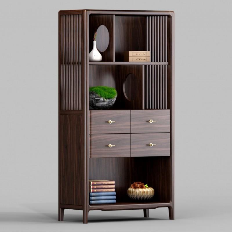 御舍新中式实木家具茶柜1801