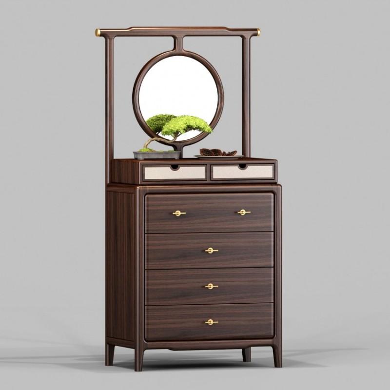 御舍新中式实木家具卧室斗柜1801