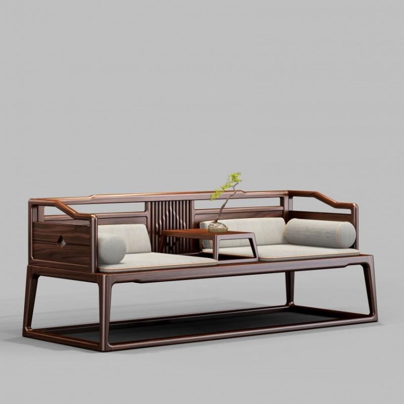 御舍新中式实木家具罗汉床1801
