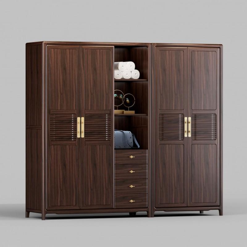 御舍新中式实木家具衣柜衣橱1805