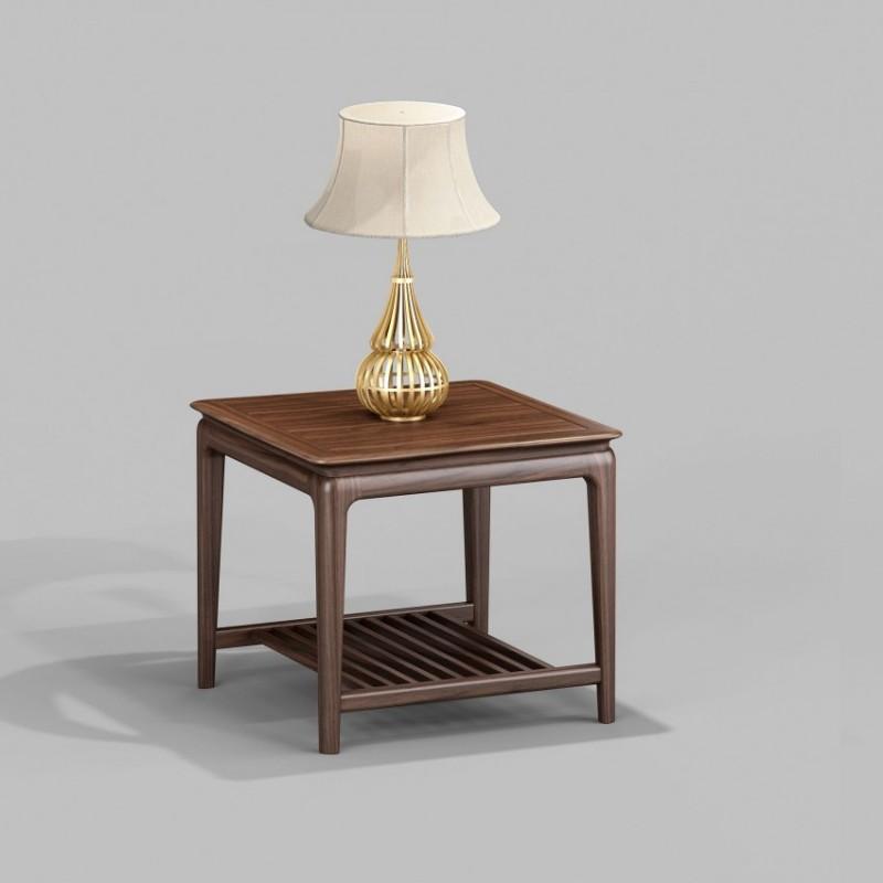 御舍新中式实木家具客厅茶几圆几角几1801