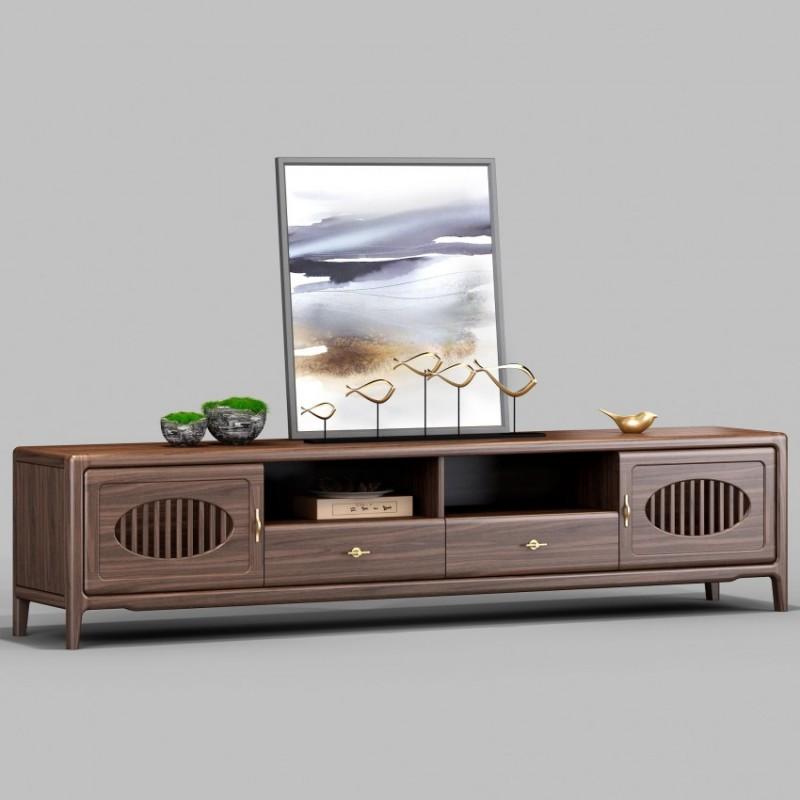 御舍新中式实木家具客厅电视柜地柜1801