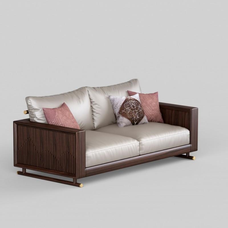 御舍新中式实木家具客厅沙发 实木沙发1803