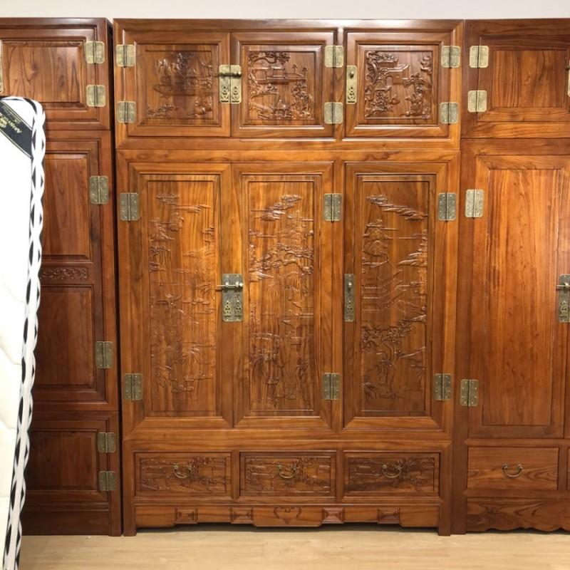 卧室家具更衣柜雕花卧室套装组合衣柜YG-02
