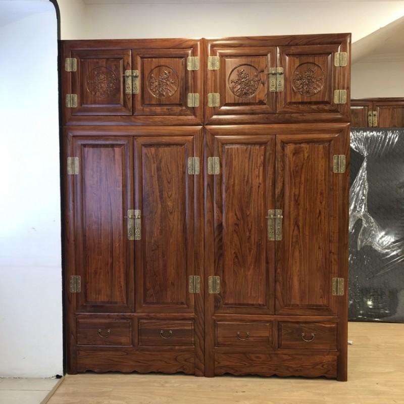 卧室家具更衣柜雕花卧室组合衣柜YG-03
