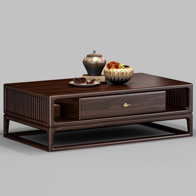 御舍新中式实木家具客厅茶几方几1803