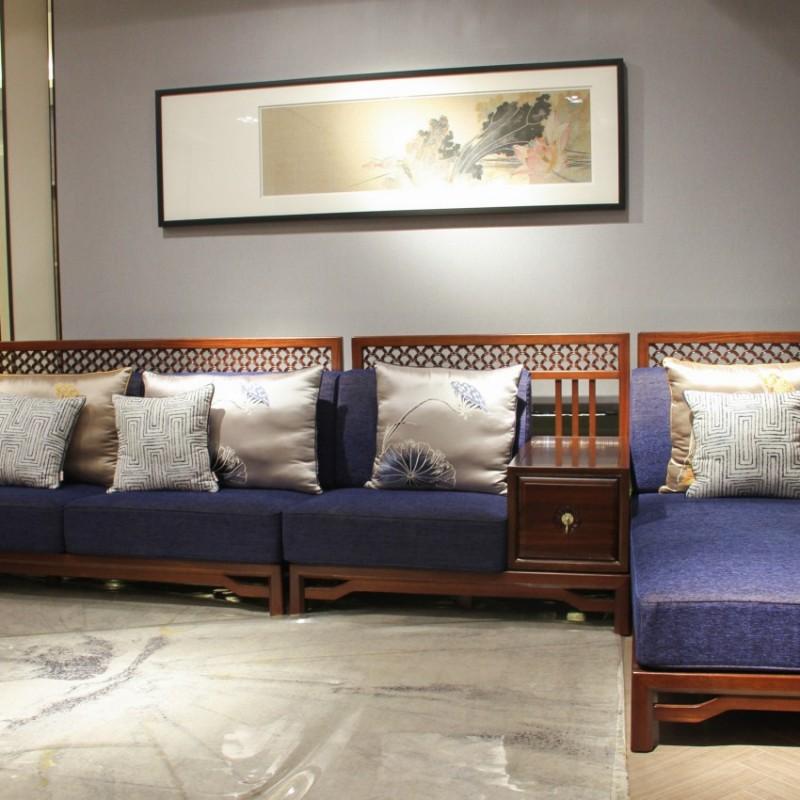 中国概念新中式实木家具客厅沙发套茶几罗汉床方几单椅312
