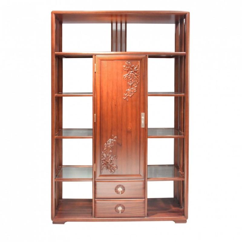 中国概念新中式实木家具三门书柜301H3