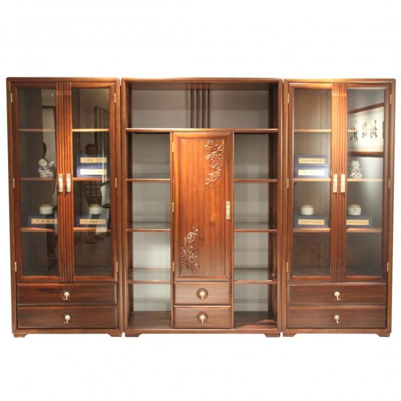 中国概念新中式实木家具书房书柜301