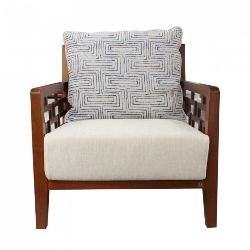 中国概念新中式实木家具沙发单椅309R2