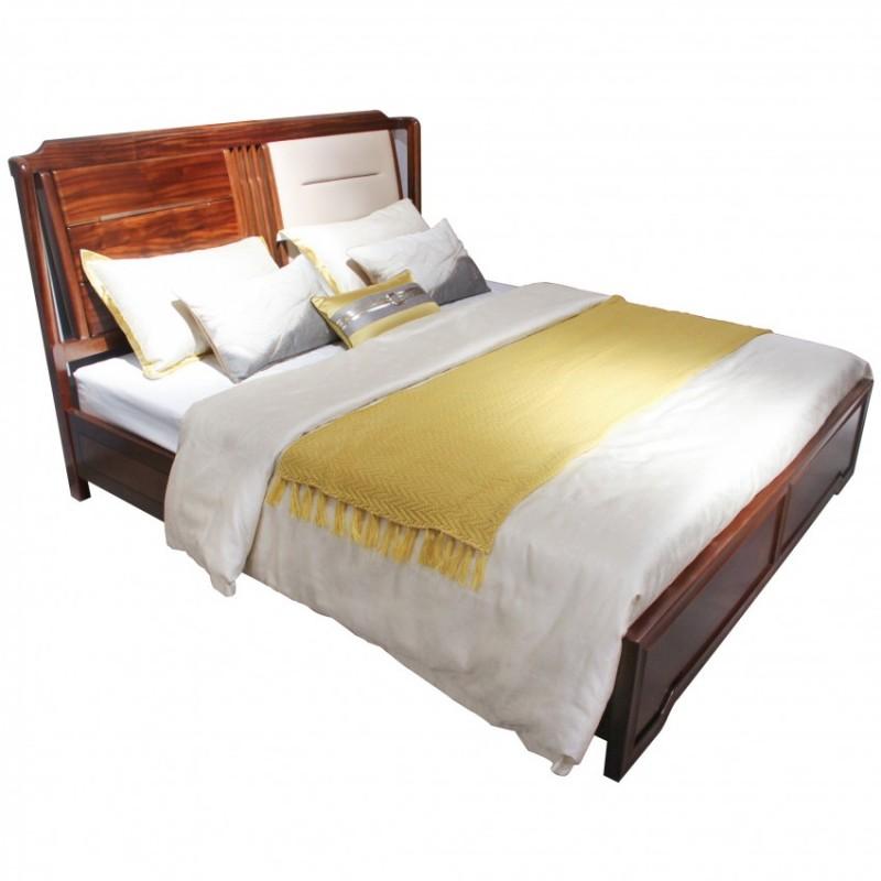 中国概念新中式实木家具卧房实木大床313A