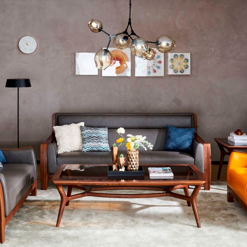 莫霞致简北欧风实木家具客厅沙发茶几1605