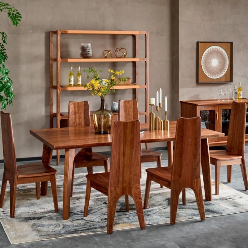 莫霞致简北欧风餐厅实木家具餐厅餐桌餐椅1622
