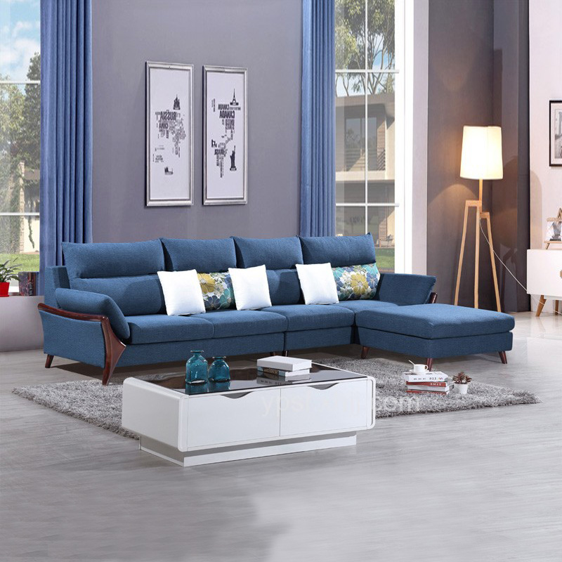 现代北欧可拆洗沙发 1