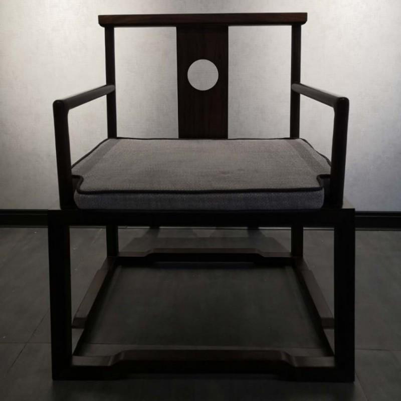 禅语新中式实木家具黑檀茶椅单椅休闲椅太师椅