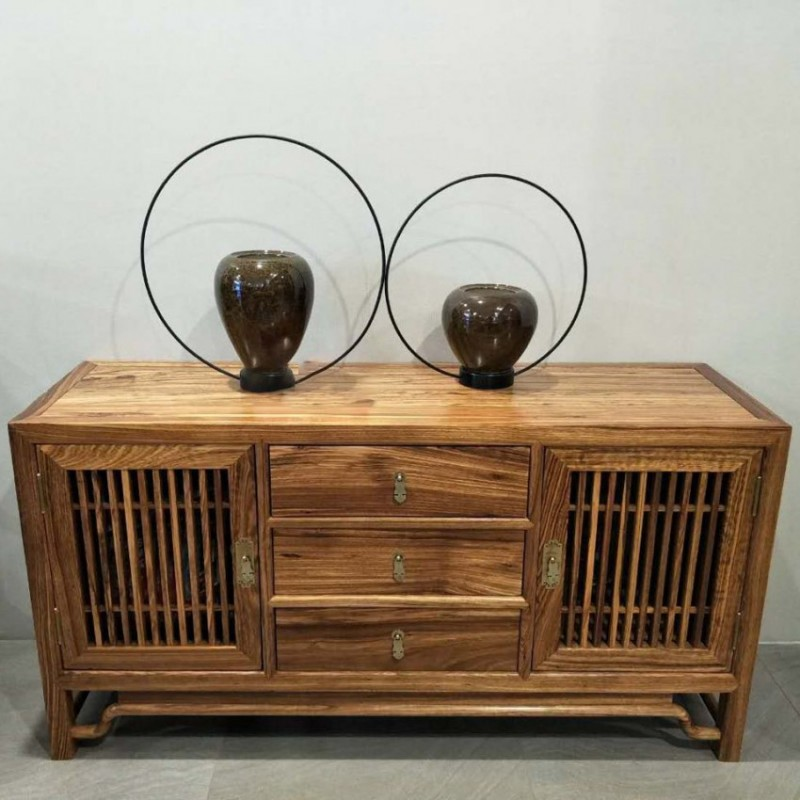 禅语新中式实木家具鞋柜边柜立柜斗柜
