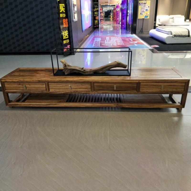 禅语新中式实木家具客厅电视柜地柜