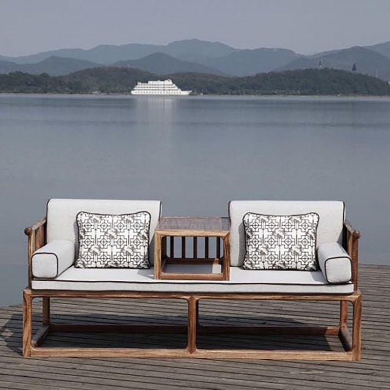 禅语新中式实木家具罗汉床休闲沙发