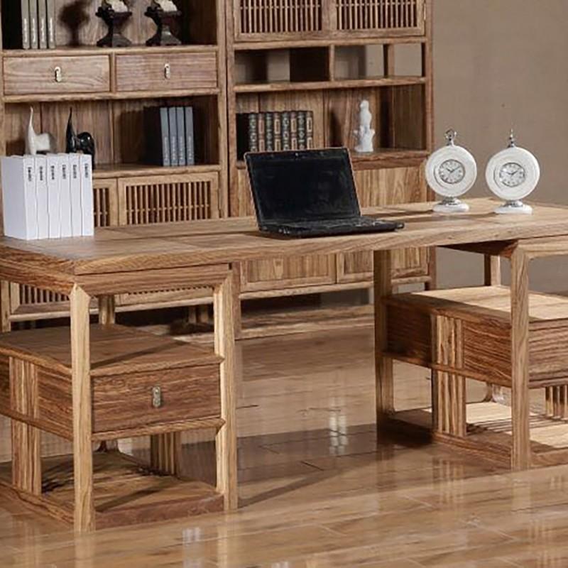 禅语新中式实木家具书桌书椅