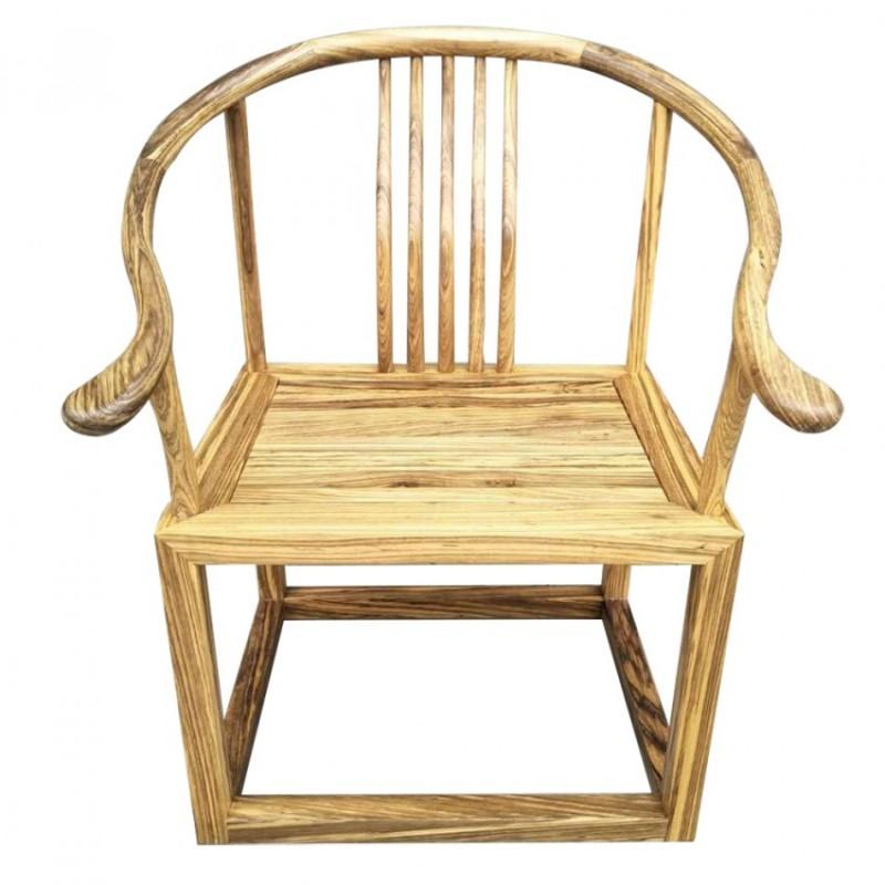 禅语新中式实木家具休闲椅休闲沙发