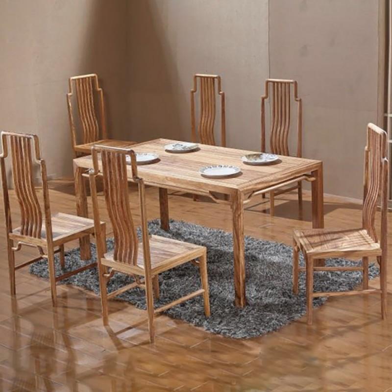 禅语新中式实木家具餐厅餐桌餐椅