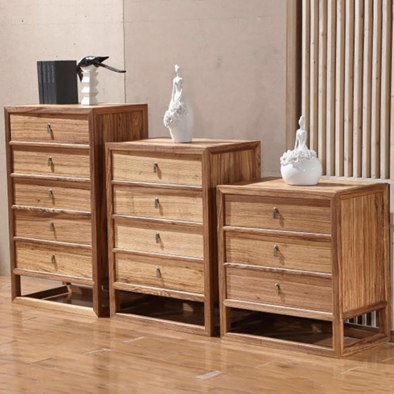 禅语新中式实木家具三斗柜四斗柜五斗柜