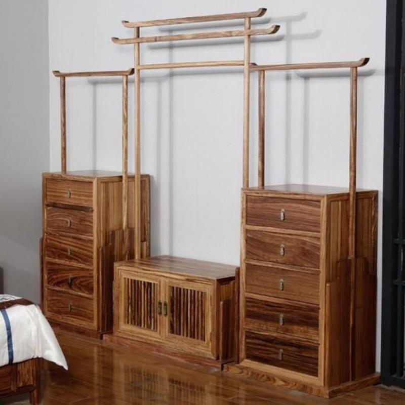 禅语新中式实木家具挂衣架衣挂