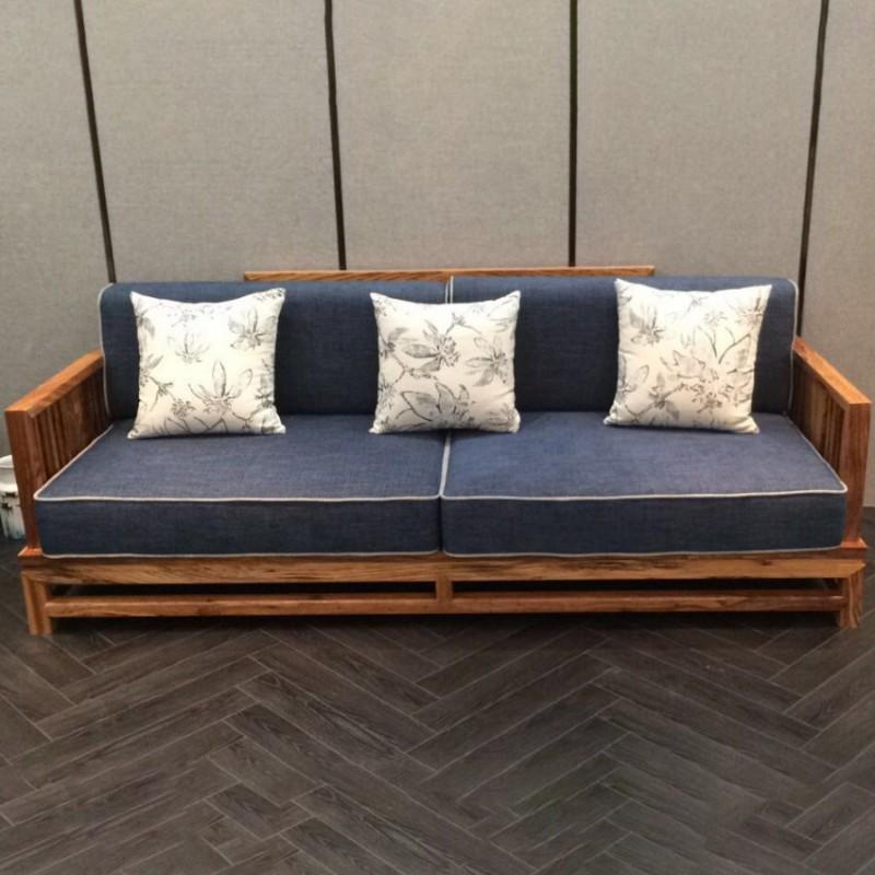 禅语新中式实木家具客厅沙发组合茶几角几-2