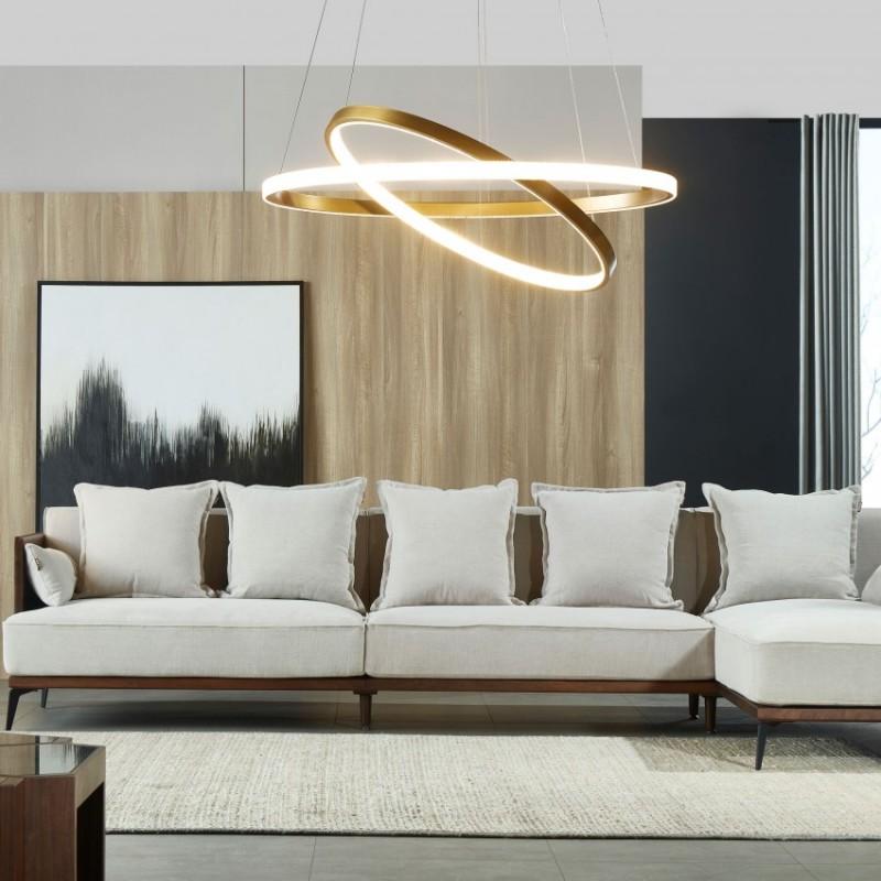 莫霞木各北欧风实木家具1818-B转角沙发