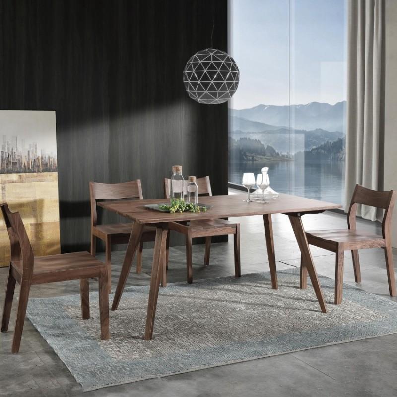优木良匠黑胡桃北欧风格餐厅餐桌椅餐边柜2
