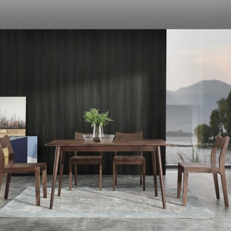 优木良匠黑胡桃北欧风格餐厅餐桌椅餐边柜3
