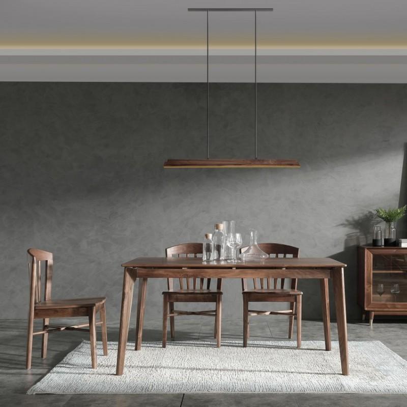 优木良匠黑胡桃北欧风格餐厅餐桌椅餐边柜4