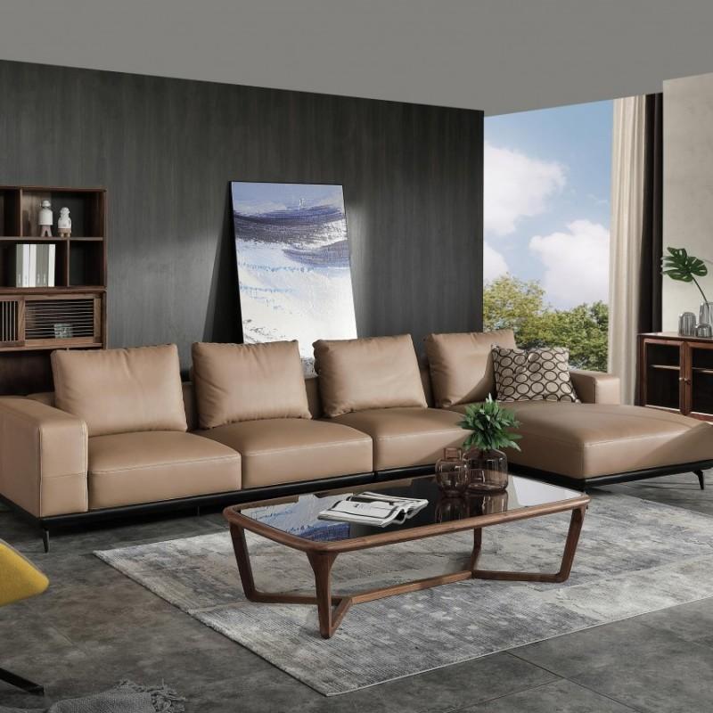 优木良匠黑胡桃北欧风格客厅沙发组合茶几4